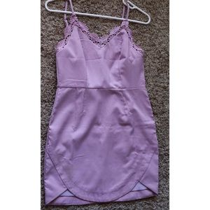Lavender Dress with Tulip Scalloped Edge
